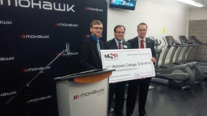 I'm in very good company, accepting the Mohawk Students' Association $500,000 gift to students at our skilled trades campus from VP Cody Strong and President Max Brown.