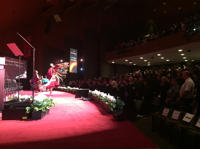 Our Spring 2015 Convocation Ceremonies opened with incredibly powerful performances by the Spirit Vision Drummers and Dancers.