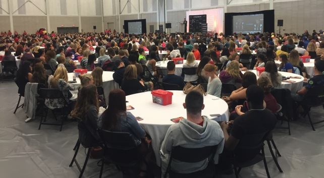 A record number of students attended their Day One orientation at Mohawk College.