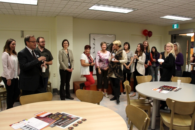 Drop by 062b at the Fennell Campus and check out the new Staff Lounge that was officially opened this morning.
